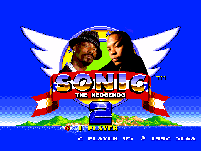 Sonic The Hedgehog 2 meets Dr. Dre and Snoop Dogg